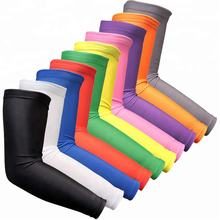 Customized Full Printing Sport Elbow Pads Kids Basketball Elastic Slimming Arm Sleeve