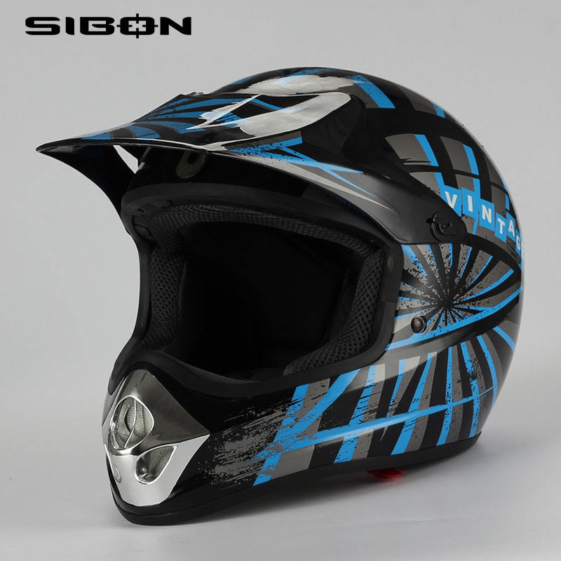 SIBON B0820114 AS-NZS ABS shell removable liner off China made sun peak visor off road adult motor cross helmet