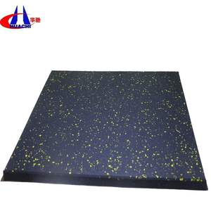 500x500mm size rubber gym floor tile 1 inch thick rubber mat