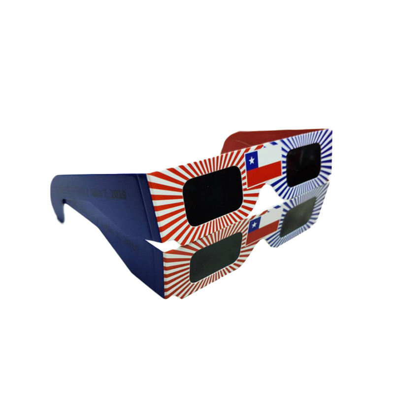 2020 ISO And CE Certified More Popular Wholesale Custom Printed 3D Total Solar Eclipse Paper Glasses