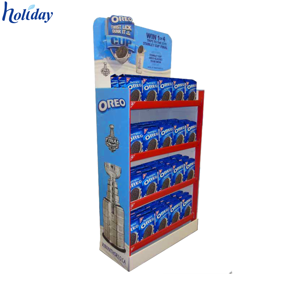 Supermarkt Retail OEM/ODM Kartonnen Brood Display Stand Plank Rack Voor Brood