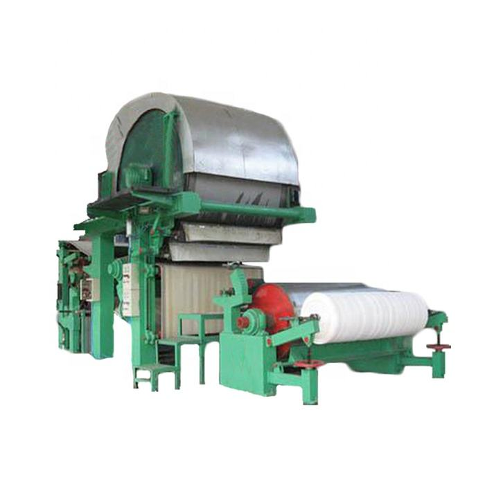 Model 600 787 small toilet paper production line capacity 500-1500kg per day waste paper virgin wood pulp as raw materials