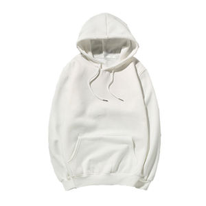 Mens Plain 100% Cotton Thin Mens With White Strings All White Sweatshirt Hoodie