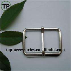 slide alloy silver metal belt buckle with pin for garment/luggage accessories