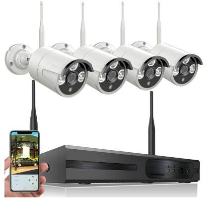 1080P Outdoor Waterproof IP Wifi Video 4CH 4 Security Camera Kit CCTV System