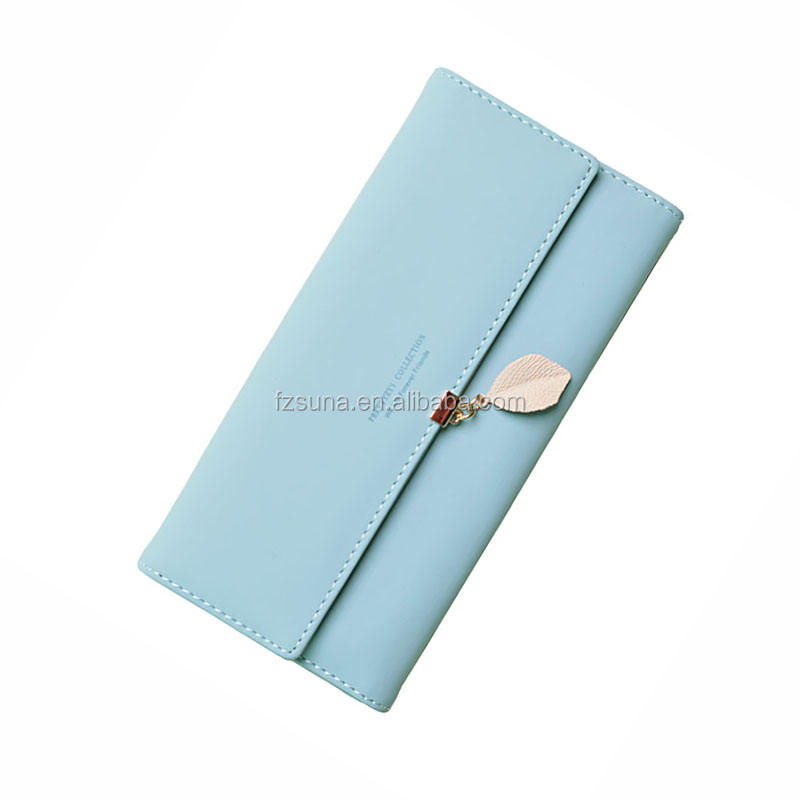 2018 Brand Leaves Women Wallet Card Soft PU Leather Women Clutch Wallet Female Designer Coin Card Purse
