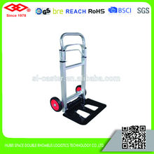 90KG aluminium folding cart with 2 wheels