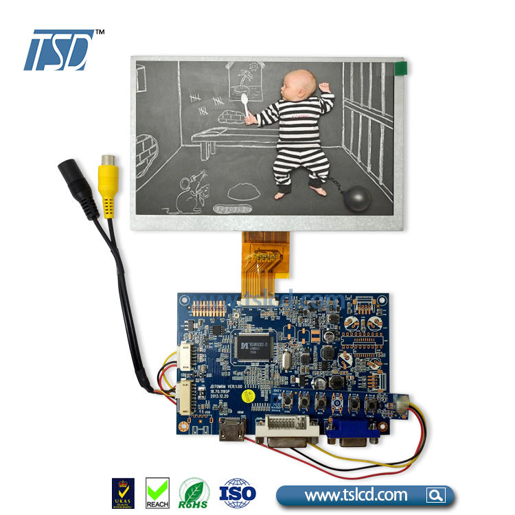1024x600 Resolutie 7 inch TFT Panel Display HDMI connector board voor Raspberry Pi