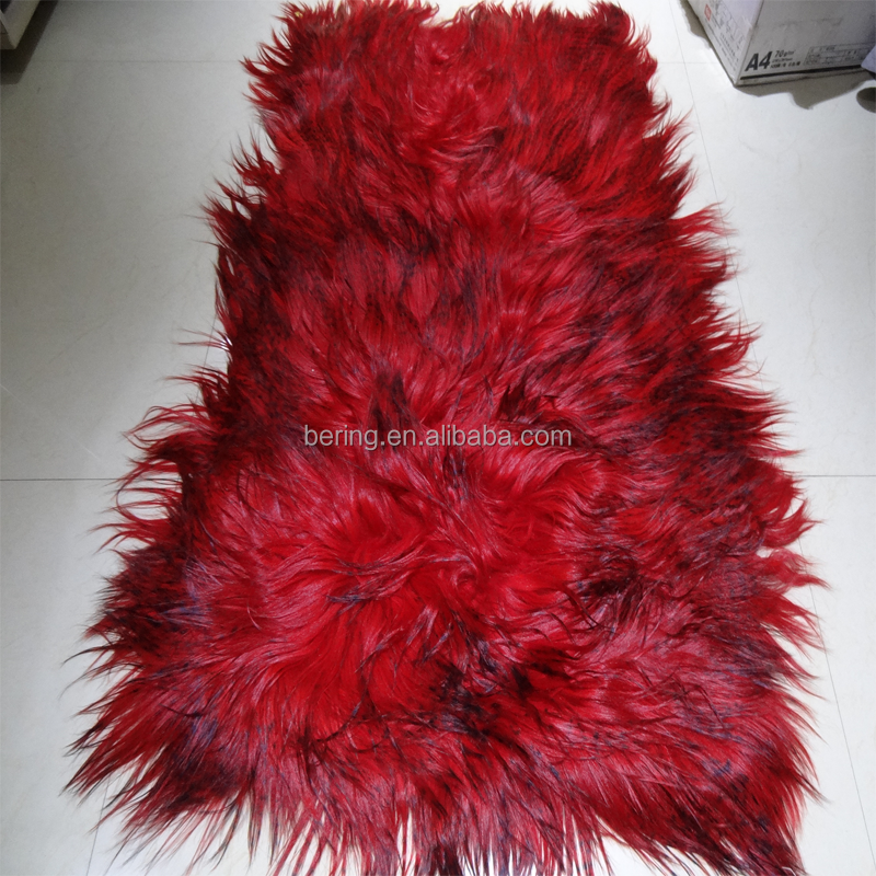 Long hair goat fur rugs,animal fur rugs,animal shaped rugs