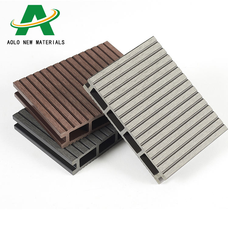 Factory supply wood composite decking board eco-friendly waterproof cheap WPC panel outdoor exterior flooring