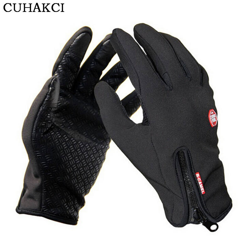 CUHAKCI Light weight Bicycle Motorcycle Gloves Touched Screen Anti-skidding Racing Glove Winter Windproof Warm Cycling Gloves