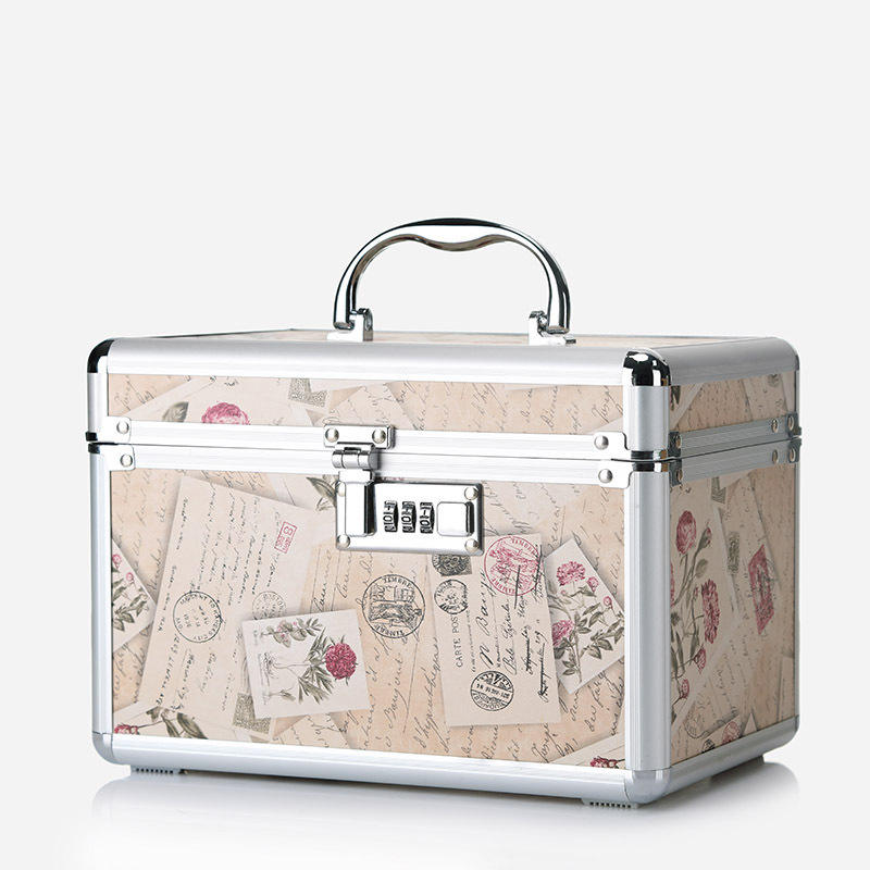 2018 New Code Lock Cosmetic Aluminum Alloy Travel Wash Gargle Bag