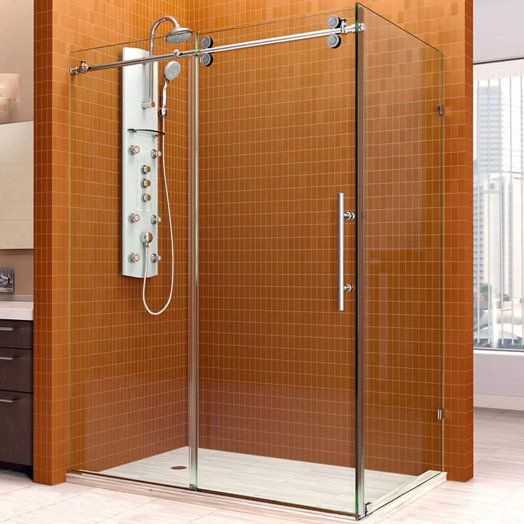 36 x 36 shower door led mirror cabinet with shaver socket