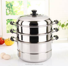 hot selling 2017 stainless steel double bottom steamer for food in china