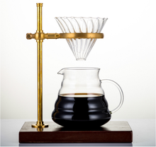 Fashion design high borosilicate V60 type glass coffee dripper
