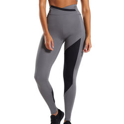 custom High Waisted Gray Workout Pockets Fitness Yoga Wear Stretchy bamboo leggings
