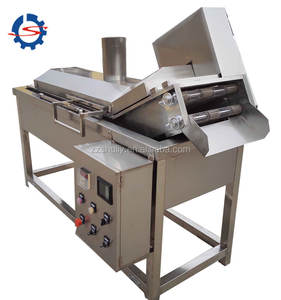 Manufacturer stainless steel belt conveyor automatic continuous fryer frying machine