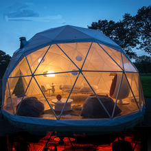Luxury Transparent Large Party Event Yurt , Camping Big Geodesic Dome Tent For Sale