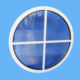 aluminium profile fixed glass round window price, double glazed small/large size fixed windows