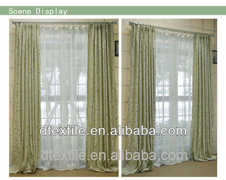 Cortinas de la ventana superior de diseño listo hecho cortina del telar jacquar para sala de estar f355-1