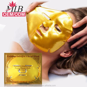 Hydrogel collagen mask crystal 24K gold facial mask with GMP FDA approved