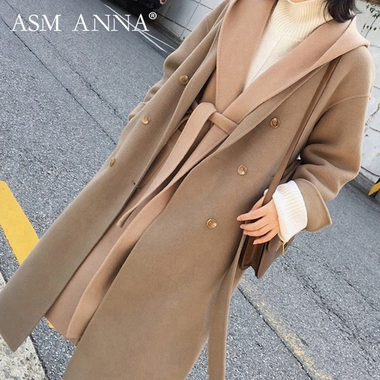 ASM ANNA OEM 긴 Sleeve 옷 품 Warm Coat Women Winter Slim 트렌치 Coat 대 한 Women