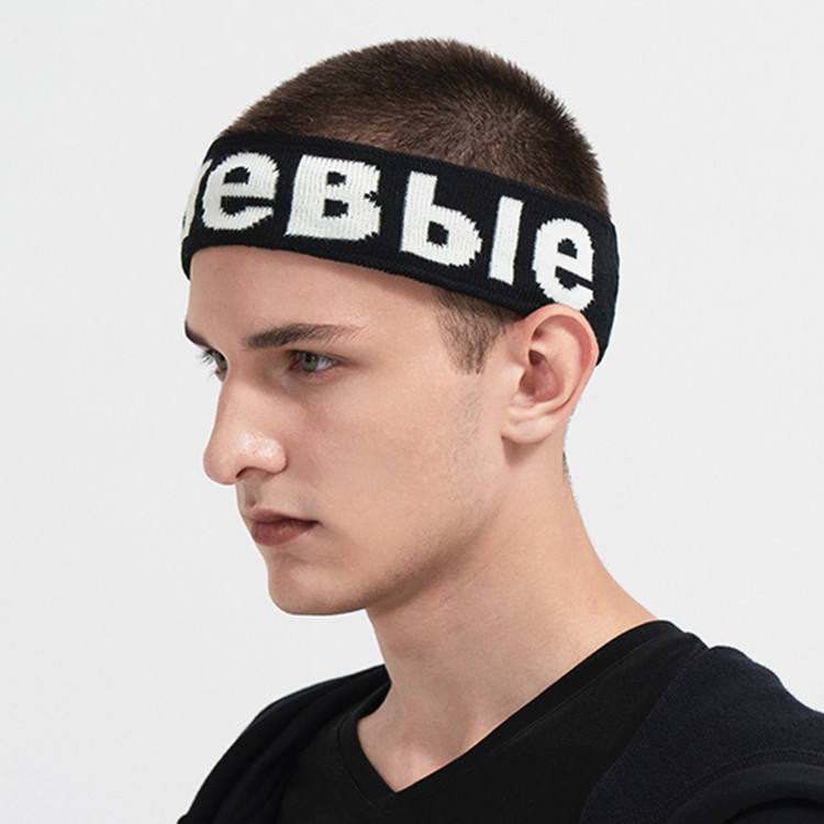Wholesale Men Stretchy Athletic Custom Sweatband Elastic Yoga Headbands