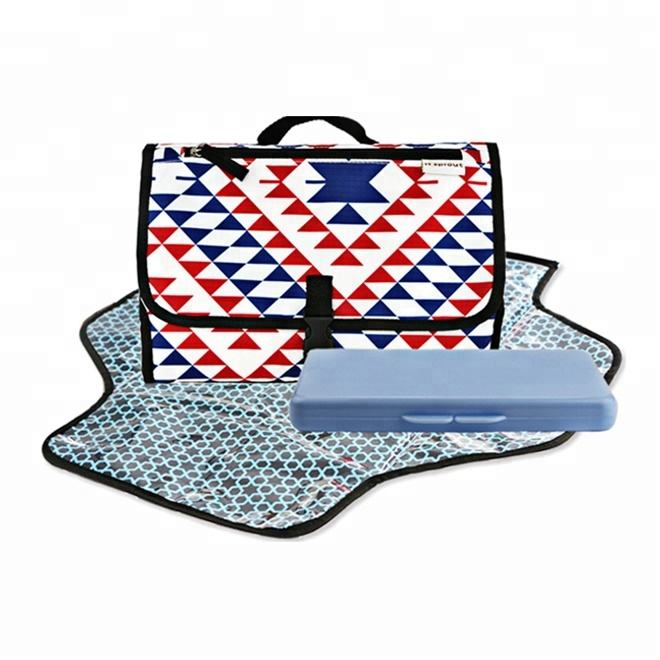 Waterproof Portable Baby Diaper Changing Pad With Wipes Case