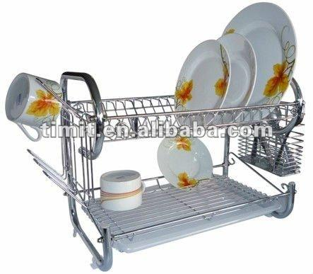 "16"" G SHAPE HIGH QUALITY CHROME PLATED cabinet DISH RACK"