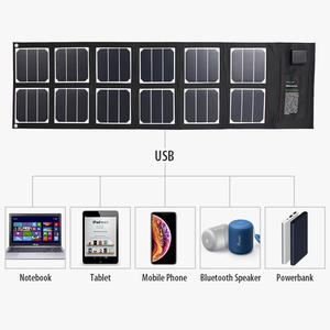 portable 40w electric bike solar charger solar battery charger solar Laptop Charger