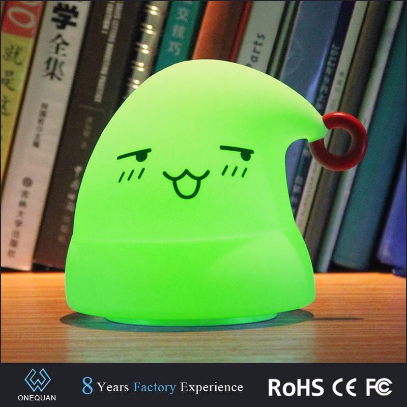 Оптовая Мини Cute Cap Silicone ночник для подарка