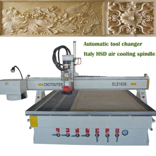 escultura de talla de madera del cnc enrutador de la máquina de italia con aire hsd husillo