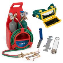 Portable Oxygen Acetylene Welding Cutting Weld Torch Tank Kit