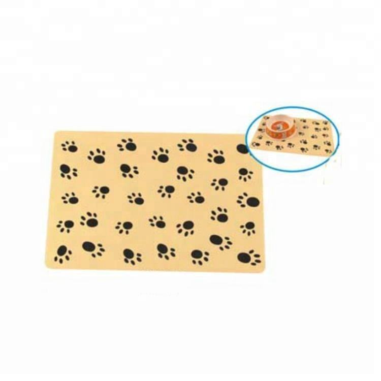 Factory sale soft PP yellow cute pattern pet dog feeding mat