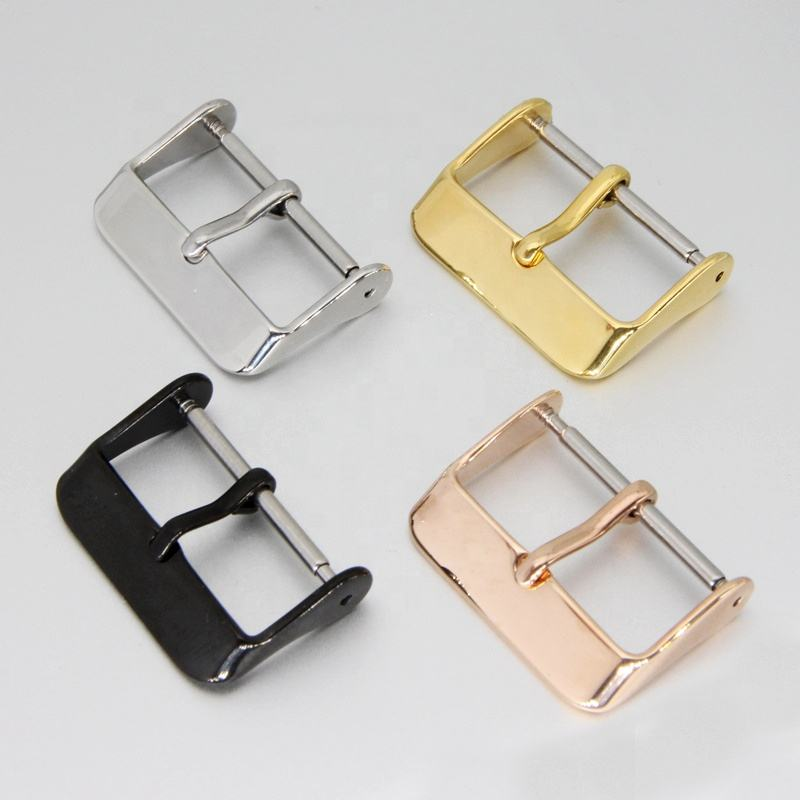 Customize 8mm to 26mm Stainless Steel Pin Buckle Strap Watch Band Clasp Watch Buckle