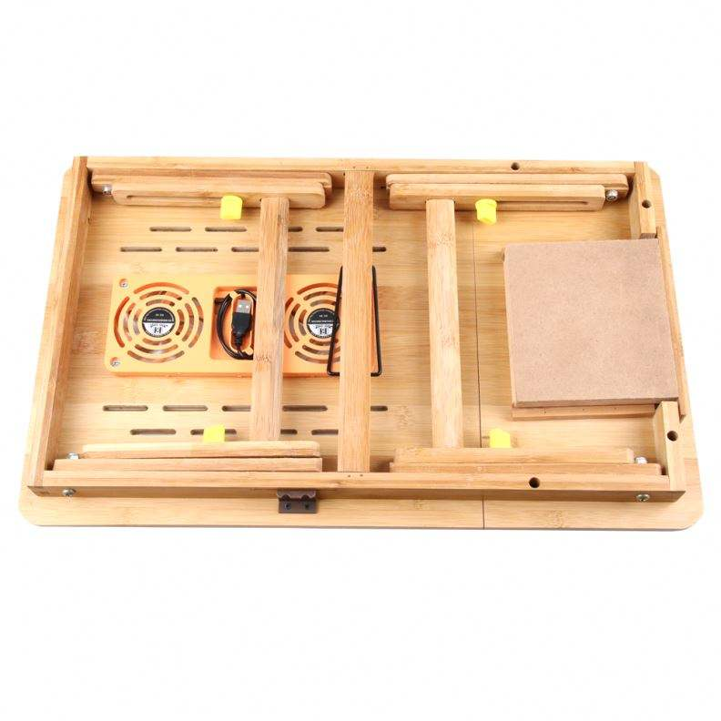 Bamboo Multifunction Wooden Folding Laptop Table