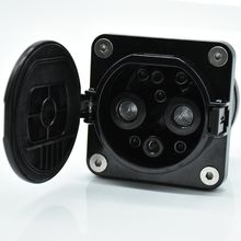 Electric vehicle station cable connector EV charging socket