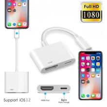 8 Pin HDMI Cable For Iphone To HDMI HDTV TV Adapter Digital AV Cable 1080P For iphone 11 pro max X Xs Max XR 8 7 plus All Model