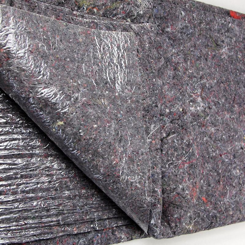 Recycled felt sheet with recycled fabric LDPE film protect floor and furniture when decorating protect machinery and equipment