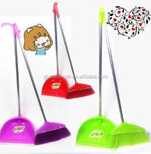 HQ0808 household broom and dustpan set with long metal handle
