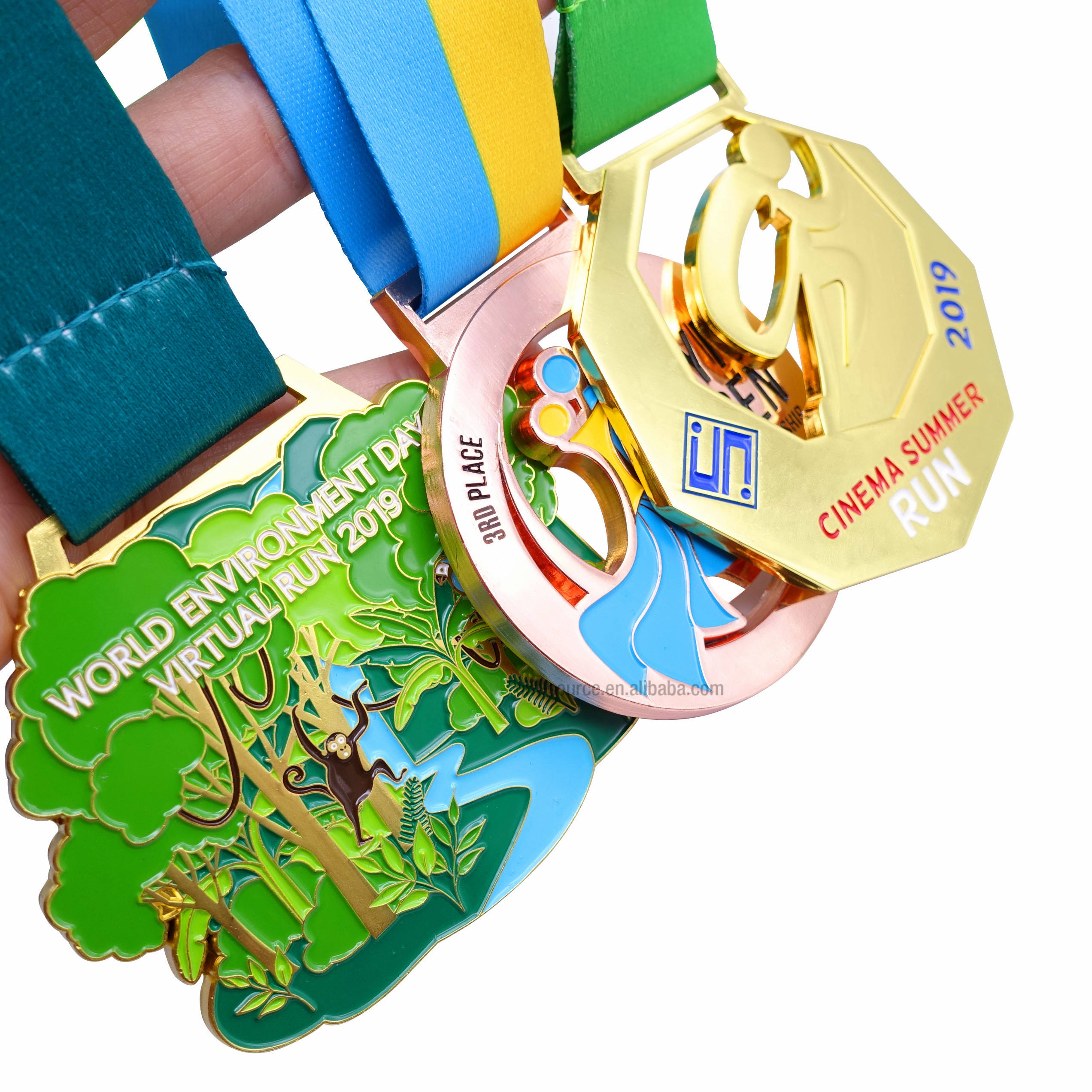 Custom bronze metal medal sports military soccer swimming spinning trophies and medals china,medals custom medal,metal medallion