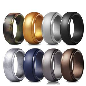 20% off 8- Pack Amazon Best Seller Silicone Wedding Rings for Men