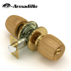 Popular Pear Wood Cylindrical Door Locks Wood Handle Latches Round Knob Locks