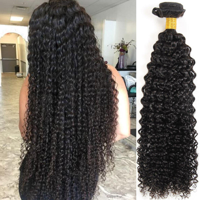 Brazilian Style Human Hair Bundles Afro Curly 100% Human Hair Weave Extension 1 PC Remy Human Hair