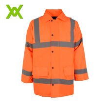 Warm PVC 3M High Visibility European Style Safety Reflective Jacket