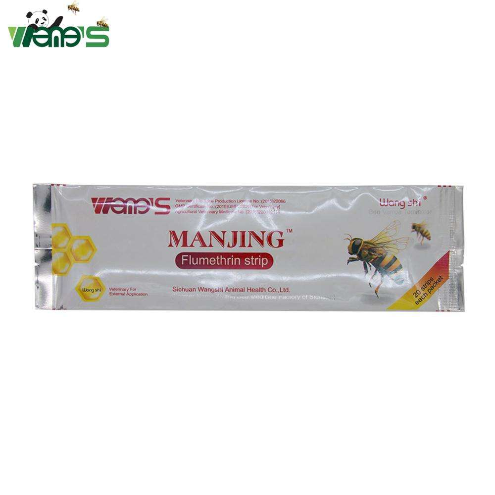 Wangshi Manjing Flumethrin strip varron mites killer bee keeping medicine