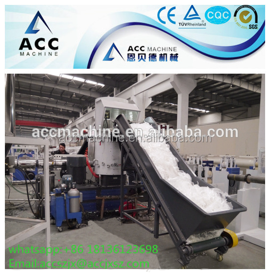 PP PE granules extruder pelletizer/recycling film bag plastic pelletizing machine