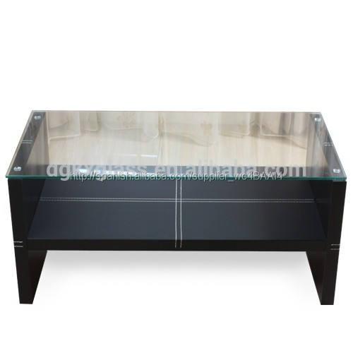 Muebles de vidrio vaso de té mesa de cubo