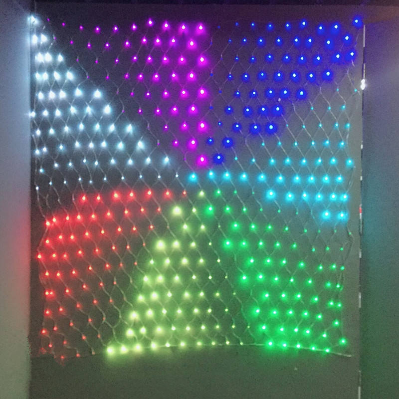 Custom multi-mode 108L transparent PVC wire led net light decorative fishing led net light