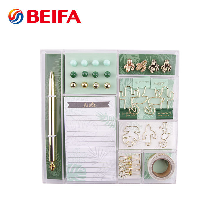 Beifa Marke RST80024 Ball Stift Push-Pins Papier Clips Binder Clips Washi Tapes Mini Kinder Büro Schreibwaren Set